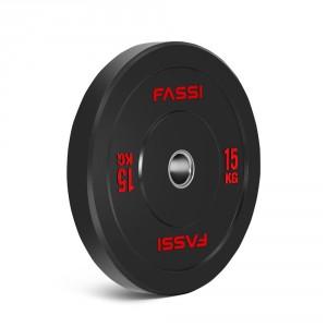 Bumper plate  Olimpionico gommato 15 kg Fassi