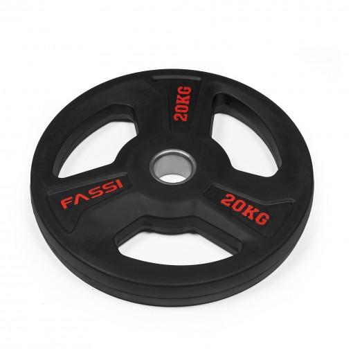 Disco Olimpionico gommato professionale  20 kg Fassi